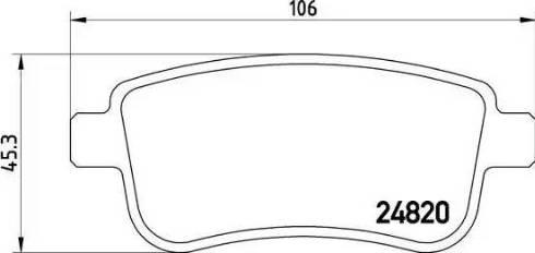 Brembo P 68 041 - Piduriklotsi komplekt,ketaspidur multiparts.ee