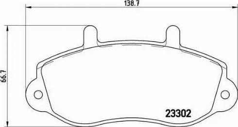 Brembo P 68 025 - Piduriklotsi komplekt,ketaspidur multiparts.ee