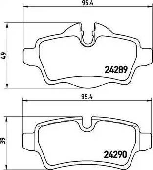 Brembo P 06 052 - Piduriklotsi komplekt,ketaspidur multiparts.ee