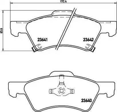 Brembo P 11 015 - Piduriklotsi komplekt,ketaspidur multiparts.ee