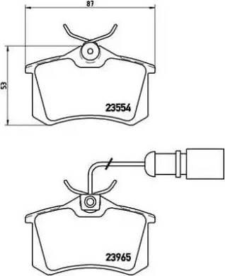 Brembo P 85 058 - Piduriklotsi komplekt,ketaspidur multiparts.ee