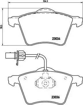 Brembo P 85 052 - Piduriklotsi komplekt,ketaspidur multiparts.ee