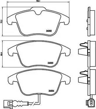 Brembo P 85 112 - Piduriklotsi komplekt,ketaspidur multiparts.ee