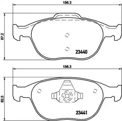Brembo P 24 058 - Piduriklotsi komplekt,ketaspidur multiparts.ee