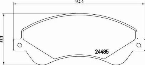 Brembo P 24 065 - Piduriklotsi komplekt,ketaspidur multiparts.ee