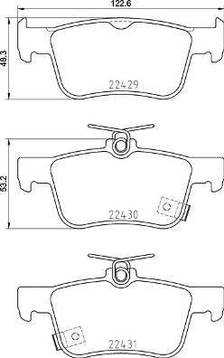 Brembo P 28 089 - Piduriklotsi komplekt,ketaspidur multiparts.ee