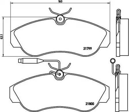 Brembo P 23 069 - Piduriklotsi komplekt,ketaspidur multiparts.ee