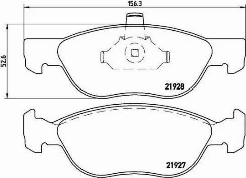 Brembo P 23 081 - Piduriklotsi komplekt,ketaspidur multiparts.ee