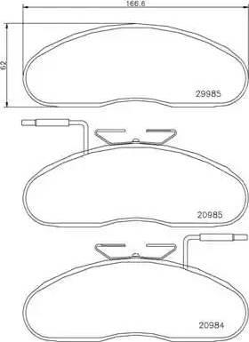 Brembo P B7 002 - Piduriklotsi komplekt,ketaspidur multiparts.ee