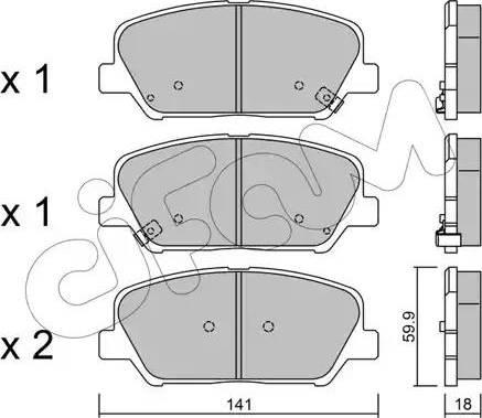 Cifam 822-997-0 - Piduriklotsi komplekt,ketaspidur multiparts.ee