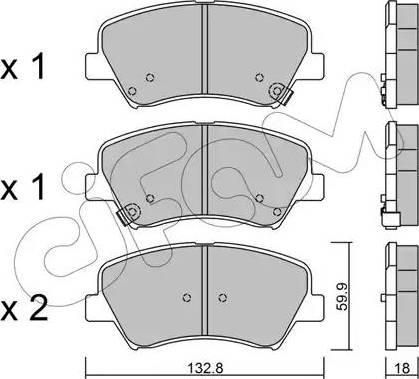 Cifam 822-944-0 - Piduriklotsi komplekt,ketaspidur multiparts.ee