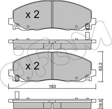 Cifam 822-946-0 - Piduriklotsi komplekt,ketaspidur multiparts.ee