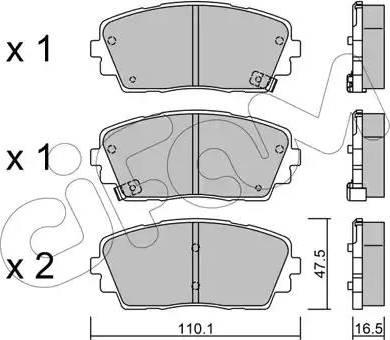 Cifam 822-941-0 - Piduriklotsi komplekt,ketaspidur multiparts.ee