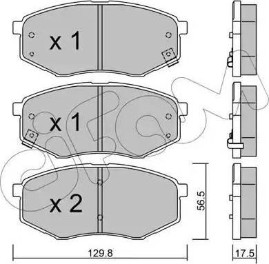 Cifam 822-942-0 - Piduriklotsi komplekt,ketaspidur multiparts.ee