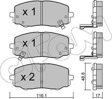 Cifam 822-912-0 - Piduriklotsi komplekt,ketaspidur multiparts.ee