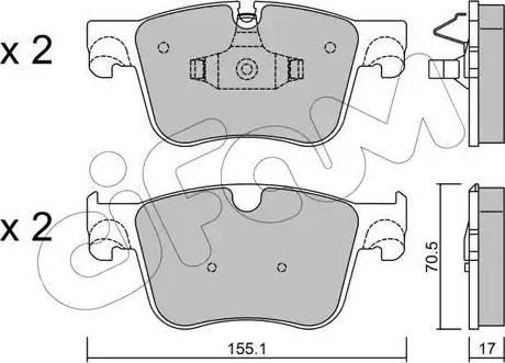 Cifam 822-985-0 - Piduriklotsi komplekt,ketaspidur multiparts.ee