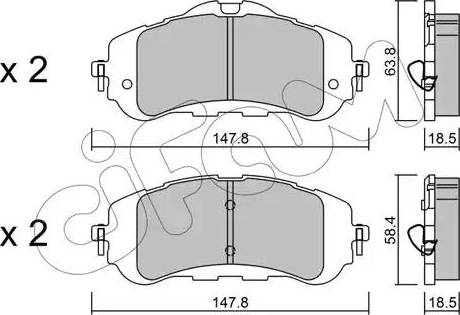 Cifam 822-983-0 - Piduriklotsi komplekt,ketaspidur multiparts.ee