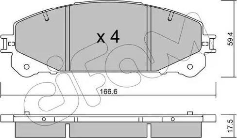 Cifam 822-938-0 - Piduriklotsi komplekt,ketaspidur multiparts.ee
