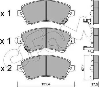 Cifam 822-446-0 - Piduriklotsi komplekt,ketaspidur multiparts.ee