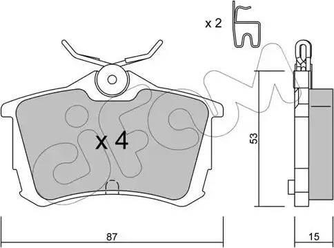 Cifam 822-465-0 - Piduriklotsi komplekt,ketaspidur multiparts.ee
