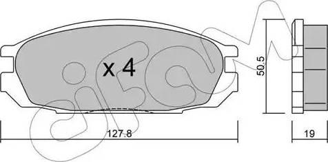 Cifam 822-409-0 - Piduriklotsi komplekt,ketaspidur multiparts.ee