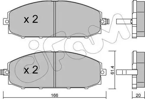 Cifam 822-407-0 - Piduriklotsi komplekt,ketaspidur multiparts.ee