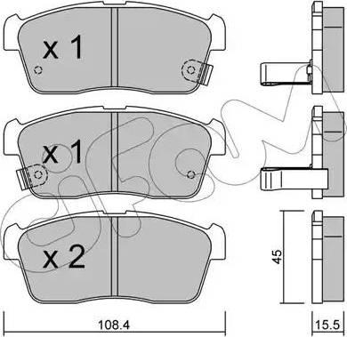 Cifam 822-415-0 - Piduriklotsi komplekt,ketaspidur multiparts.ee