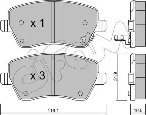 Cifam 822-485-1 - Piduriklotsi komplekt,ketaspidur multiparts.ee