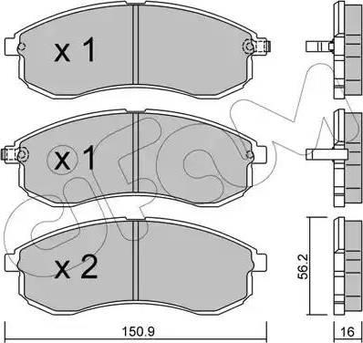 Cifam 822-482-0 - Piduriklotsi komplekt,ketaspidur multiparts.ee