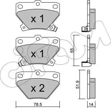 Cifam 822-424-0 - Piduriklotsi komplekt,ketaspidur multiparts.ee