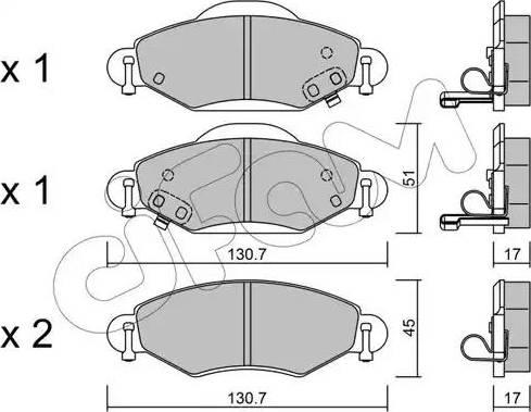 Cifam 822-421-0 - Piduriklotsi komplekt,ketaspidur multiparts.ee