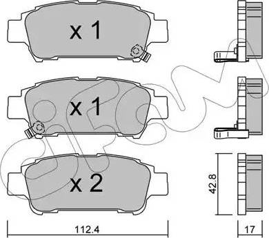 Cifam 822-428-0 - Piduriklotsi komplekt,ketaspidur multiparts.ee