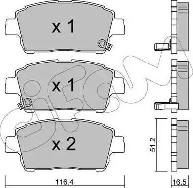 Cifam 822-423-0 - Piduriklotsi komplekt,ketaspidur multiparts.ee