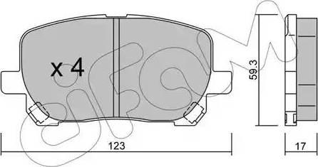 Cifam 822-427-0 - Piduriklotsi komplekt,ketaspidur multiparts.ee