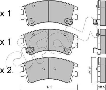 Cifam 822-476-0 - Piduriklotsi komplekt,ketaspidur multiparts.ee