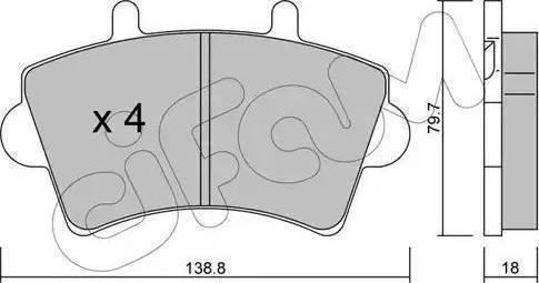 Cifam 822-545-0 - Piduriklotsi komplekt,ketaspidur multiparts.ee