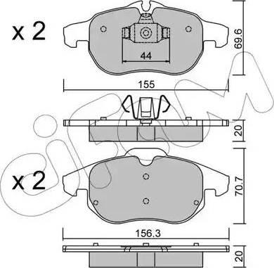 Cifam 822-540-0 - Piduriklotsi komplekt,ketaspidur multiparts.ee