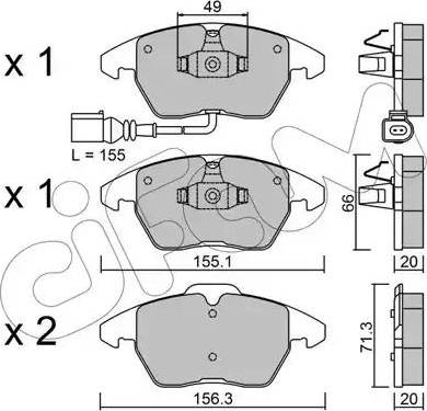 Cifam 822-548-0 - Piduriklotsi komplekt,ketaspidur multiparts.ee