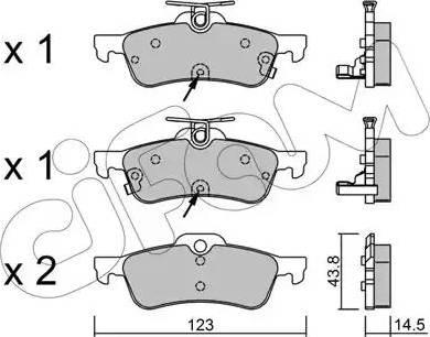 Cifam 822-556-2 - Piduriklotsi komplekt,ketaspidur multiparts.ee