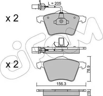 Cifam 822-550-1 - Piduriklotsi komplekt,ketaspidur multiparts.ee