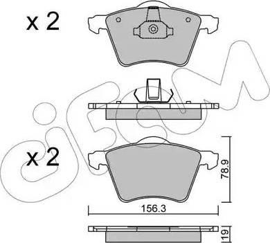 Cifam 822-550-2 - Piduriklotsi komplekt,ketaspidur multiparts.ee