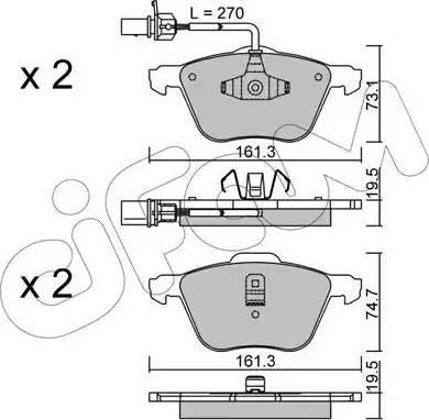 Cifam 822-551-0 - Piduriklotsi komplekt,ketaspidur multiparts.ee