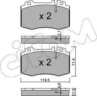 Cifam 822-563-5 - Piduriklotsi komplekt,ketaspidur multiparts.ee