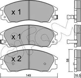 Cifam 822-506-0 - Piduriklotsi komplekt,ketaspidur multiparts.ee