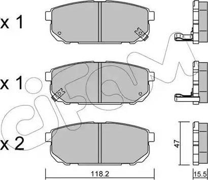 Cifam 822-516-0 - Piduriklotsi komplekt,ketaspidur multiparts.ee