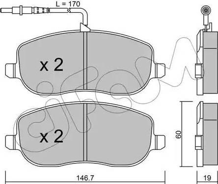 Cifam 822-530-0 - Piduriklotsi komplekt,ketaspidur multiparts.ee