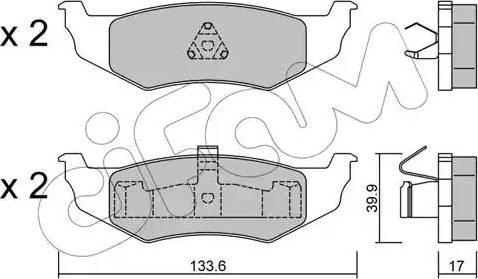 Cifam 822-522-0 - Piduriklotsi komplekt,ketaspidur multiparts.ee