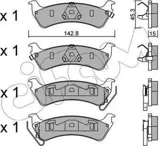 Cifam 822-527-0 - Piduriklotsi komplekt,ketaspidur multiparts.ee