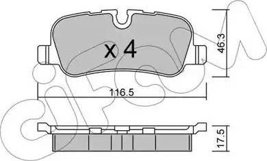 Cifam 822-694-0 - Piduriklotsi komplekt,ketaspidur multiparts.ee