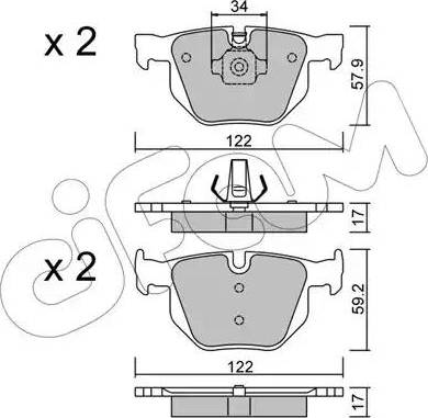 Cifam 822-644-4 - Piduriklotsi komplekt,ketaspidur multiparts.ee